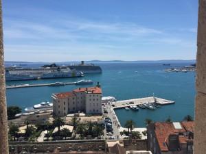Blick in den Hafen von Split