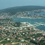 Der Blick auf Trogir von den Bergen aus