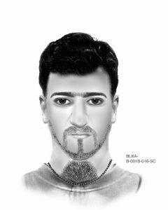 Phantombild des ersten Täters. Bild: LKA