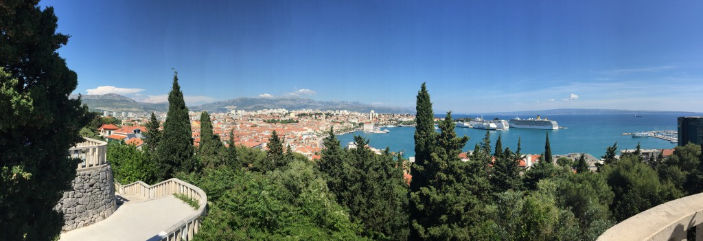 Ausblick über Split