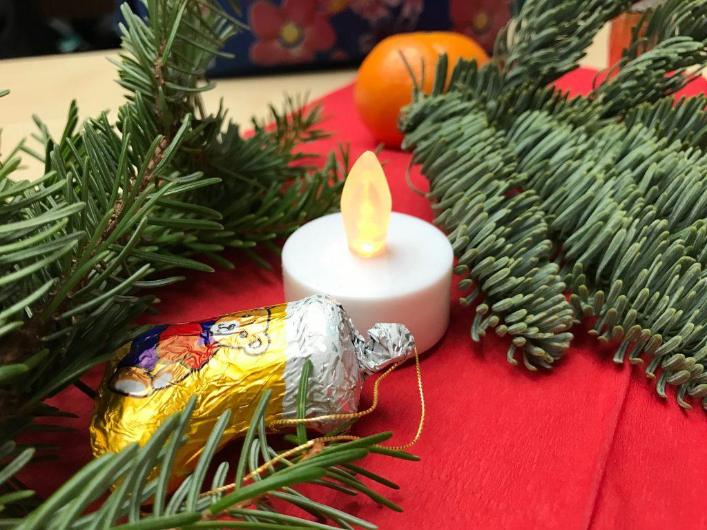 Dem Brandschutz gerecht wurden auch die Kerzen